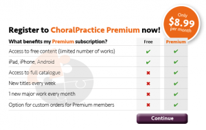 Benefits for ChoralPractice Premium subscribers